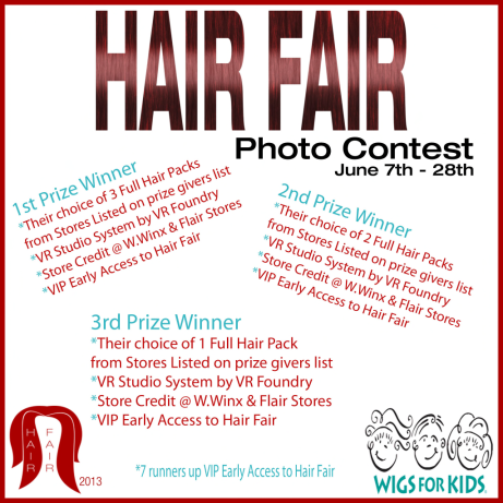 Hair Fair Photo Contest Prizes Poster