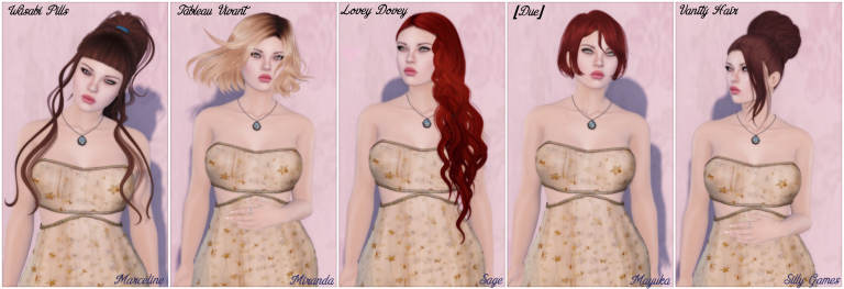 2016 Hair Fair Wasabi Pills Tableau Vivant Lovey Dovey [DUE] Vanity Hair